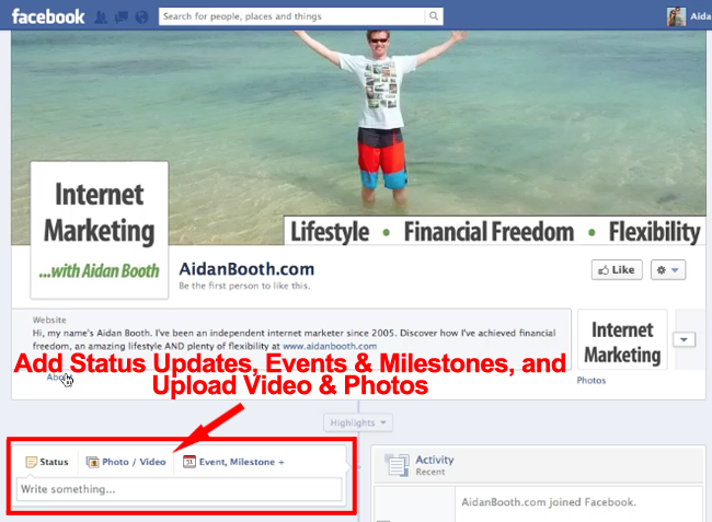 Facebook Milestones and Status Updates