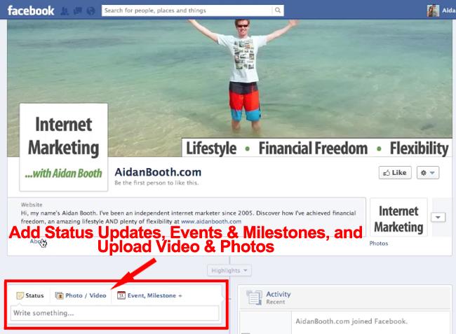 Facebook Milestones and Status Updates