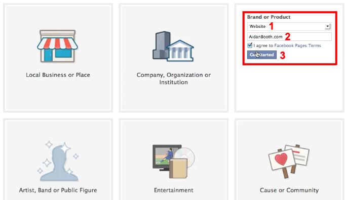 Facebook Website Category