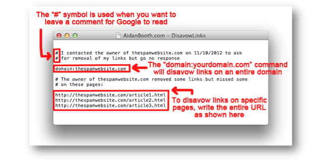 Disavow Text File